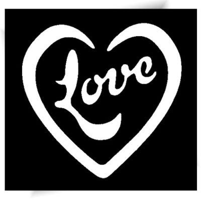 Pochoir adhésif Love tatouage provisoire