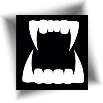 Pochoir adhésif dent de vampire
