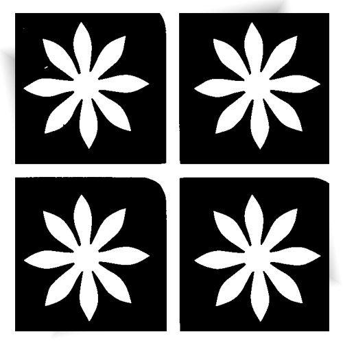 Pochoir adhésif mini fleurs