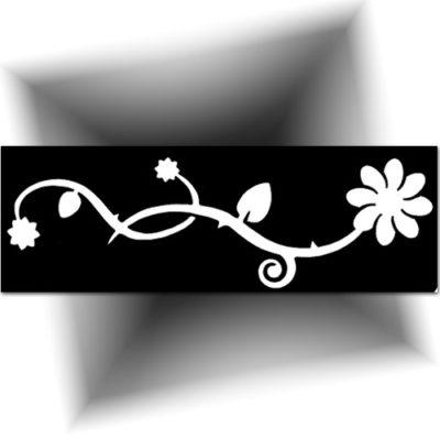 Pochoir adhésif fleur tatouage temporaire