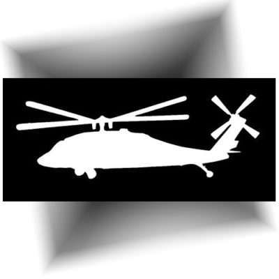 Pochoir adhésif hélicoptère