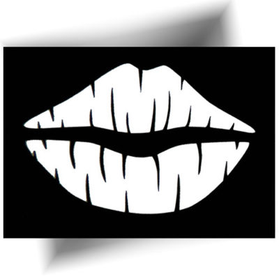 Pochoir adhésif lèvres