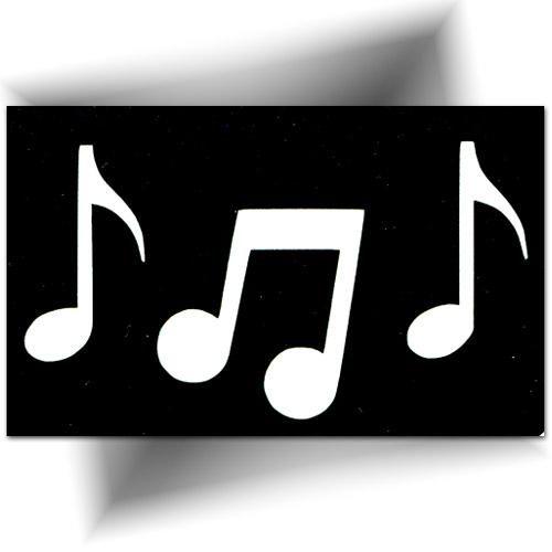 Pochoir note de musique