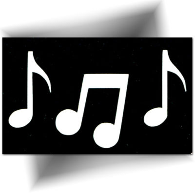 Pochoir adhésif note de musique