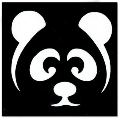 Pochoir adhésif panda tatouage temporaire