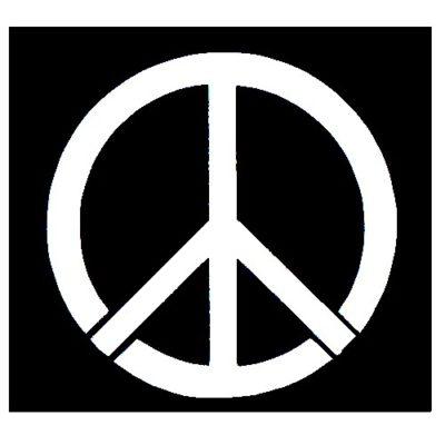 Pochoir peace and love pour réaliser des tatouages paillette