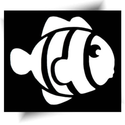 Pochoir adhésif poisson tatouage temporaire