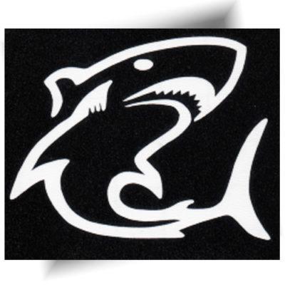 Pochoir adhésif requin tatouage temporaire