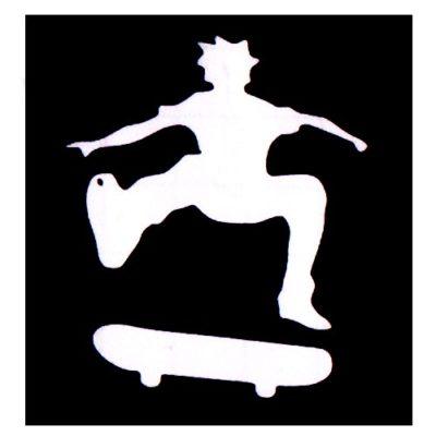 Pochoir adhésif skate tatouage temporaire