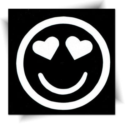 Pochoir adhésif smiley cœur