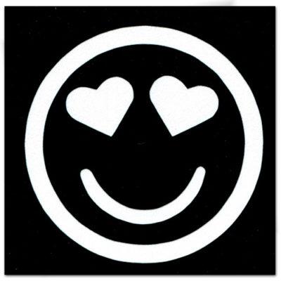 Pochoir adhésif smiley cœur tatouage temporaire