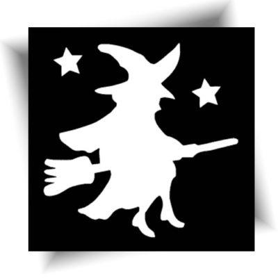 Pochoir adhésif sorcière Halloween