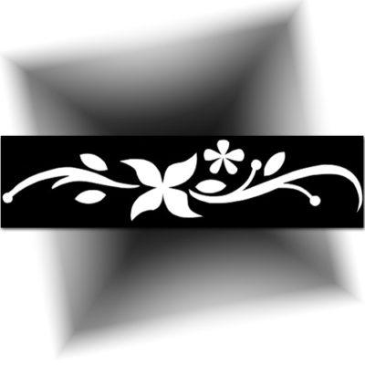Pochoir adhésif floral, tatouage éphémère