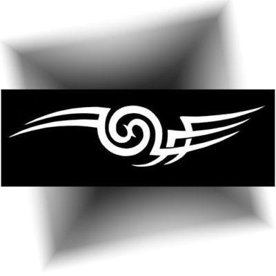 Pochoir adhésif tribal ailé , tatouage temporaire