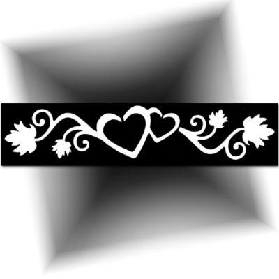 Pochoir adhésif double Cœur tatouage provisoire