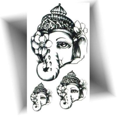 Mini tatouage éphémère éléphant