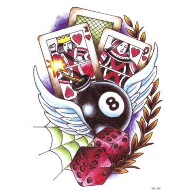 Tatouage temporaire jeux chanceux