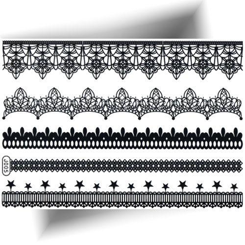 Tatouage éphémère bracelet dentelle