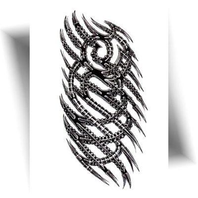 Tatouage-éphémère-tribal-mécanique