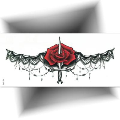 Tatouage underboobs dagger