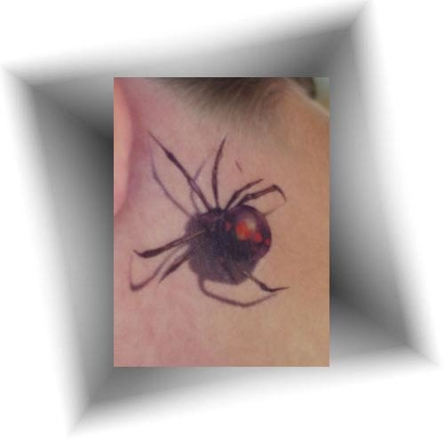 Tatouage-éphémère-araignée