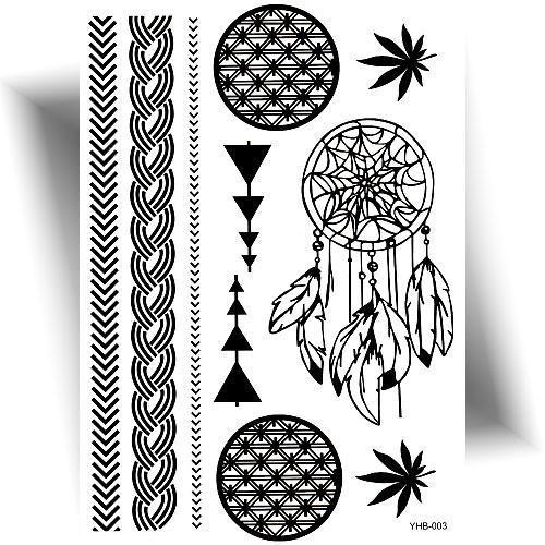 Tatouage éphémère dreamcatcher noir