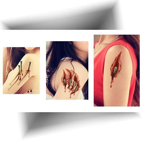 Tatouage-éphémère-réaliste-cicatrices