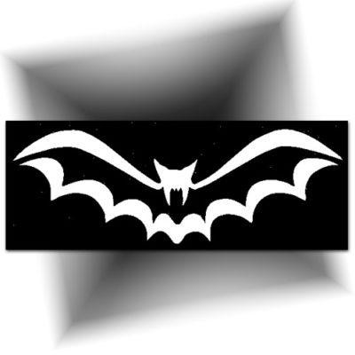 Pochoir adhésif bat Halloween