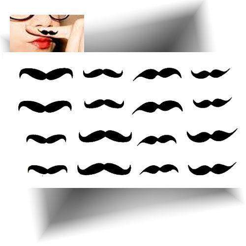 Mini tatouage temporaire moustache