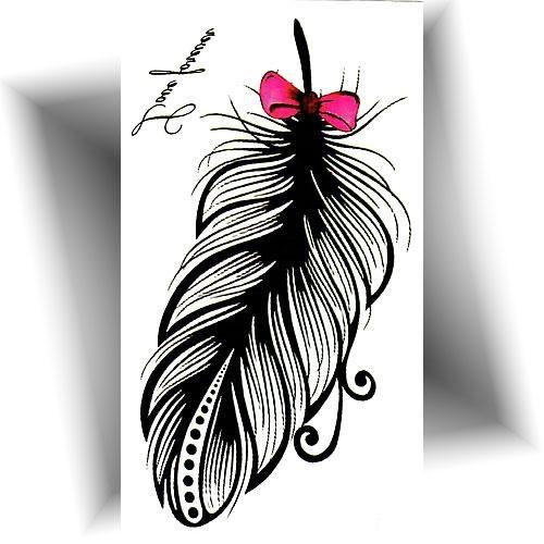 Mini tatouage éphémère plume