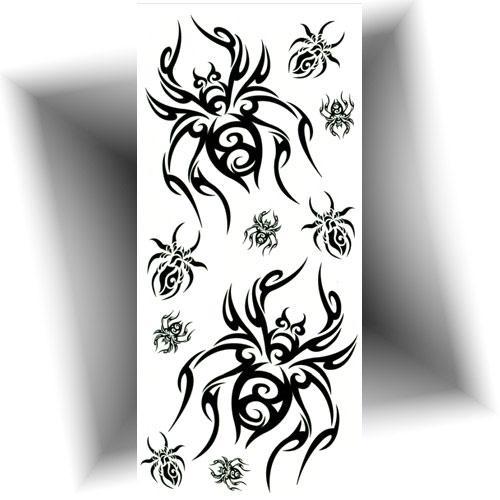 Tatouage-provisoire-tribal-araignée
