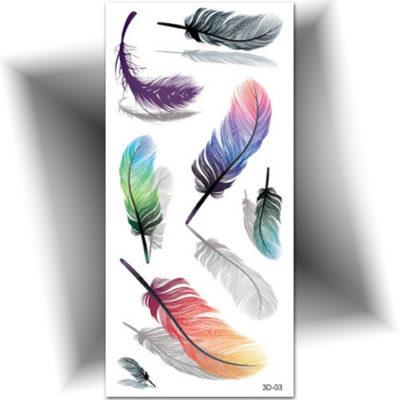 Tatouage temporaire plume