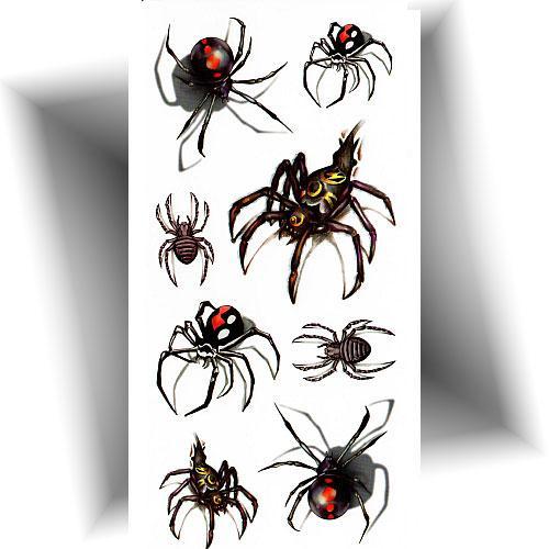 Tatouage-temporaire-3D-araignée