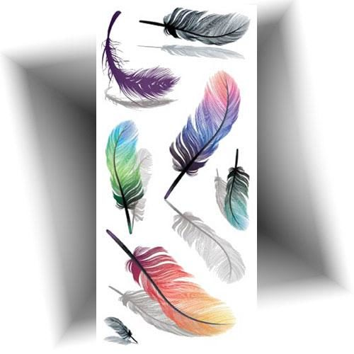Tatouage-temporaire-3D-plumes
