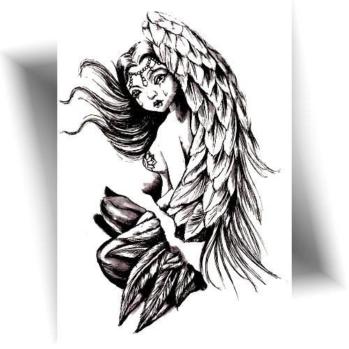 Tatouage-temporaire-ange