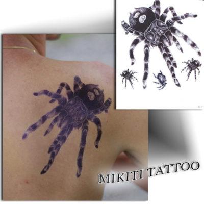 Tatouage éphémère araignée mygale