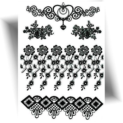 Tatouage-temporaire-bracelet-floral