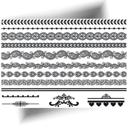 Tatouage-temporaire-bracelets-noirs