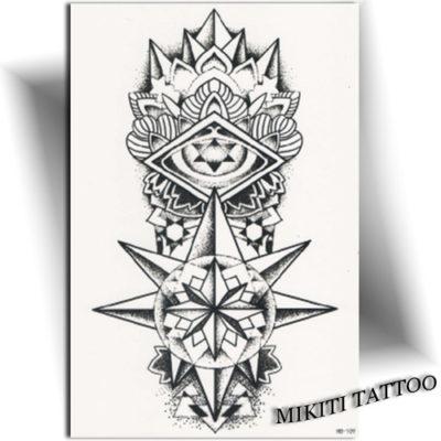 Tatouage temporaire Totem étoilé