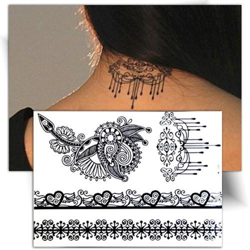 Tatouage temporaire coeur, tatouage éphémère dentelle coeur, Mikiti