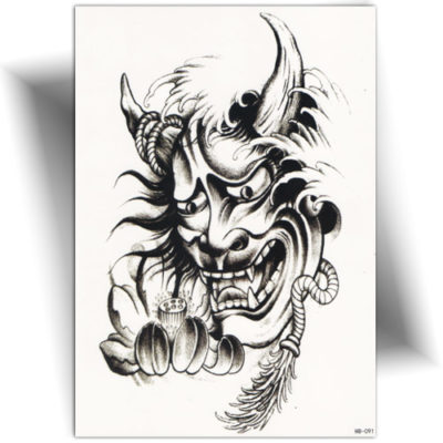 Tatouage éphémère démon Oni