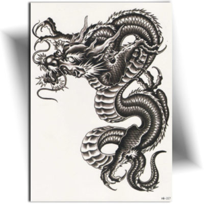Tatouage éphémère dragon asiatique