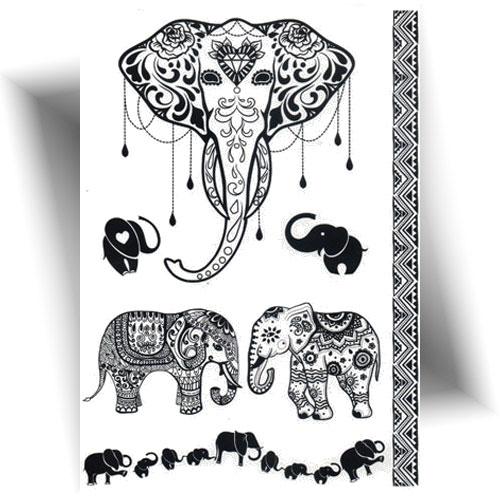 Tatouage-temporaire-éléphant