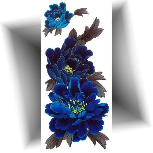 Tatouage-temporaire-fleur-bleue