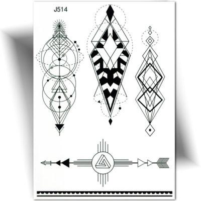 Tatouage temporaire géométrique
