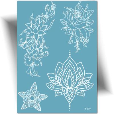 Tatouage dentelle lotus