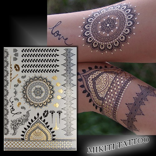 Tatouage m tallique dor tatouage ph m re tatouage temporaire - Tatouage ephemere dore ...