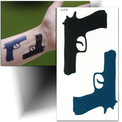 Tatouage temporaire pistolet Mikiti
