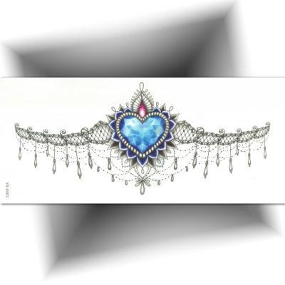 Tatouage temporaire underboobs cœur