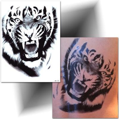 Tatouage éphémère tigre réaliste